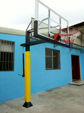 Outdoor height adjustable tempered glass basketball backboard hoop