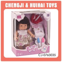 Hot safety material lovely small baby dolls wholesale doll playset toy