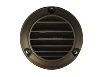 Outdoor led bronze round wall light