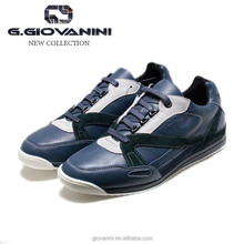 Top brand design blue colorful calf leather and green suede mens italy casual sneaker
