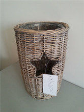 Wicker Candle Holder Flower Basket Gift