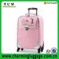 Elegant PU children travel trolley luggage bag