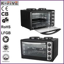38L certificación CE y sólido caliente superficie de la placa de horno de pizza eléctrica