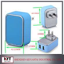 New High speed Multi-color micro usb wall charger for iphone UL/CE/FCC/ROHS/KC Certified