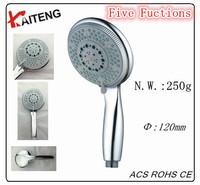 KT-818 new ABS plastic adjustable rain shower 5 levels bath shower