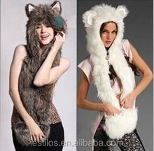 2015 New winter fur hat Plush animal hats