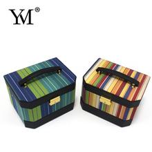 2015 fashion hot sale luxury canvas jewelry case