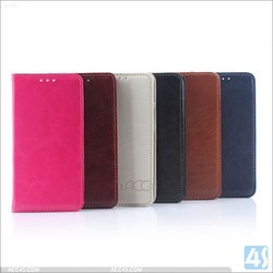 Magnetic wallet leather phone stand case for Samsung galaxy S6 edge