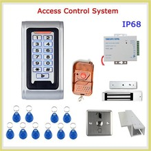 Stainless steel keypad with leds door access