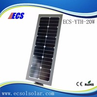 Waterproof solar street light lithium iron phosphate battery with solar charging