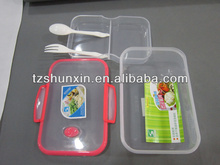 sandwich box plastic transparent lunch box with spoon