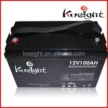 Rechargeable solar battery 12V 100Ah for solar & UPS