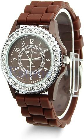 14 цветов моды силиконовые Женева часы продажи женщин платье часы женщин стразами часы 1piece