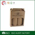 plano de alta calidad transparente de vidrio de vino caja de embalaje de venta al por mayor de china de fábrica
