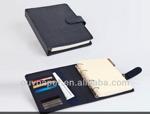 PU Leather notebook with business card holder