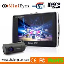 Newest factory wholesale 4.3inc Anti-theft GPS G-sensor wifi dual lens car camera with gps