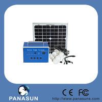 solar pv power system 10w 20w 30w solar panel installation kit with three LED