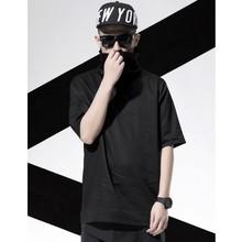 Nelly clothing factory wholesale fashion turtleneck black plain blank t-shirts for bulk
