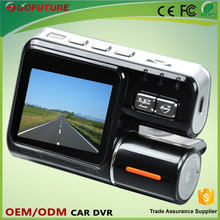 2.0 inch Dual cameras + GPS tracking + G Sensor X3000 car dvr camera mount