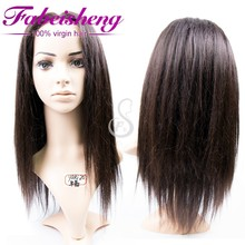 Fabeisheng Wig for Women Black, Cheap Brazilian Yaki Straight Hair Full Lace Wig