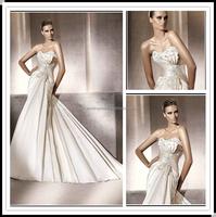 Sweetheart Satin Pleat Beaded wedding dress 2016 FXL-266