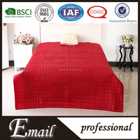 China wholesale quilted block satin fabric thin satin quilt bedspread