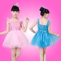 2015 spring and summer girls costumes children stage dance dress