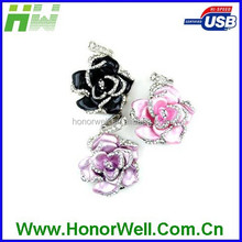 The crystal cute flower 2GB 4GB 8GB 16GB usb flash drive for hot sell for gift or use