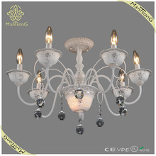 2015 trade assurance suppliers hot sale new products iron and ceramic candle with crystal ball chandelier light