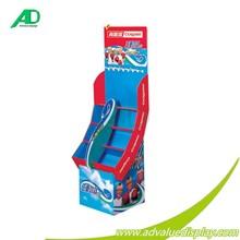 kids children Toothbrush toothpaste floor display free standing rack cardboard corrugated paper