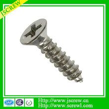 DIN7997 Stainless steel M3 Cross Flat head self tapping screw