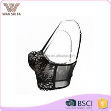 Bottom price latest design full size lace transparent cheap ladies bra brands