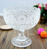 storage glassware crystal clear glass candy bowl