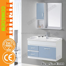 YY-B341 bathroom cabinet marble and double sinks bathroom cabinet with solid wood bathroom vanity