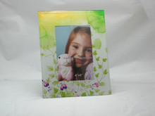 Green Floral Plant 4x6 Glass Photo Picture Frame For Kid's bedroom Decoration