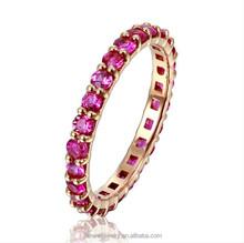 2015 Fashion 18K Rose gold Ruby diamond Rings JWRRR15239