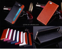 Brand New for iphone 5 5G 5S Crazy horse PU Leather Wallet case,stand cover with credit card slots/money pocket