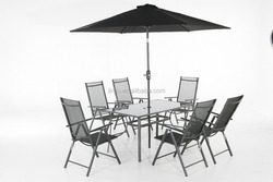 Outdoor dining table and chair garden dining table sets for 6 person