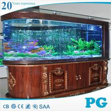 PG made in China cylinder top cover fish tank