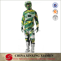 NEW PRO Mens Green Camo BMX Downhill DH Breathable Poly and nylon Jersey and Pants Motocross Suits.