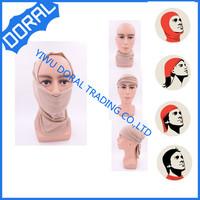 Fashion Many Solid Color Islamic Turban Head Wear Band Muslim Short Hijab Arab Women HeadScarf