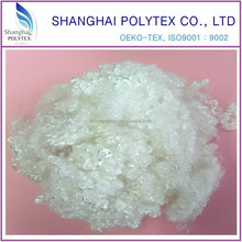 China factory direct 7den 64mm hollow conjugated siliconized polyester staple fiber