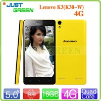 Lenovo K3 LTE phone 5 inch MSM8916 64Bit Quad Core Android 4.4 RAM 1GB ROM 16GB Dual SIM Dual standby mobile phone