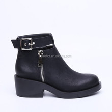 2015 fashionable woman high heel platform ankle cool martin boots with top patent pu, hasp and zipper, different material.