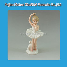 Popular ceramic home decoration with ballet girl design