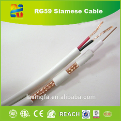 China high quality shotgun cable rg59 power cable/rg59 with power/RG59+2wire for satellite