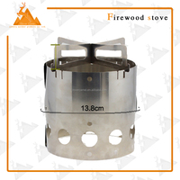 Good Quality Portable Stainless Steel Lightweight Wood Stove Alcohol Camp Stove