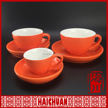 White modern straight lines porcelain cup& saucer 170cc