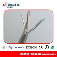 High speed 0.5mm Fluke passed 24awg CAT5E 8 Pairs cable with UTP/FTP/STP/SFTP 2 pair telephone cable 0.5mm