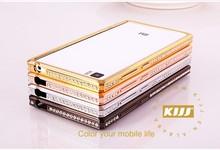 Diamond Crystal Metal Bumper Mobile Phone protective Case cover for Xiaomi mi3 M3